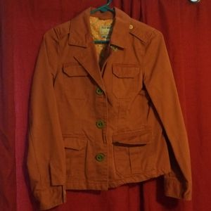 Coral colored Old Navy button up pea coat